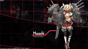 [Kantai Collection] Musashi Wallpaper by shadowmilez
