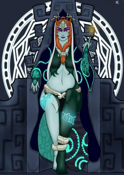 Midna flat colour by Lilithlify