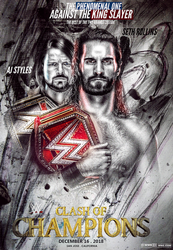 WWE Clash Of Champions 2018 Poster by workoutf