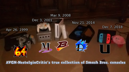 My TRUE collection Smash Bros. consoles by AVGN-NostalgiaCritic