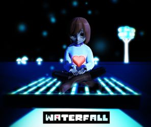 [MMD] Undertale- WATERFALL by NightSugar