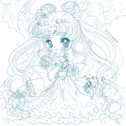 Princess Serenity Chibi (doodle) by Swieden