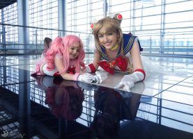 Sailor Moon and Chibiusa by lunatycy-project