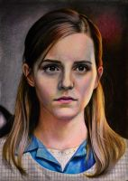Emma Watson (colored pencil) by ManFr0mNowhere