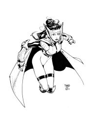 Sif sketch inks by antalas