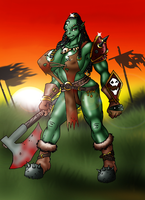 orc warrior by Lordstevie