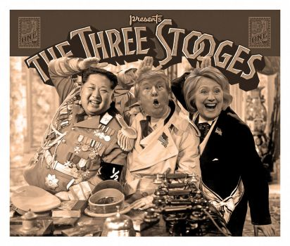 Three Stooges Kim Trump and Hillary by GregoryDampier