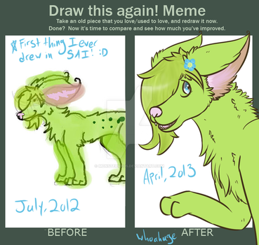 Before and After Redraw Meme by MonsterMeds