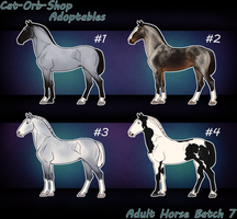 Horse Adoptable Adult Batch - 7 by Cat-Orb-Shop