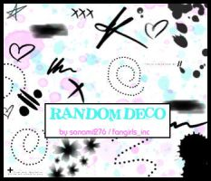 Random deco brushes by Sanami276