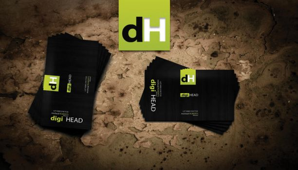 Digihead Business Card by mct2art