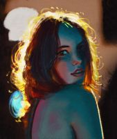 Backlight Lady by M-Junot