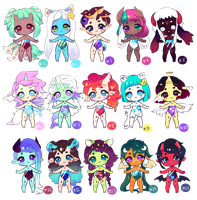 [OPEN] Althea Closed Species adoptables by jultype