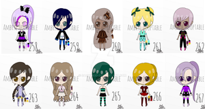 [CLOSED] (FREE) Human Adopts 258-267 by ambryladoptable