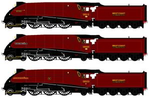 LNER A4 liveries - fictional West Coast by 2509-Silverlink