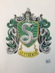 Slytherin House Crest by dalescott78