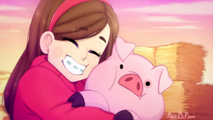 Mabel and Pato is soo cute by Bananaproduction