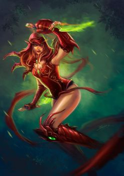 Valeera Sanguinar by Esther-Sanz