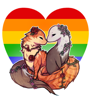Lesbiesks - Ven and Nine by blueberrygoblin