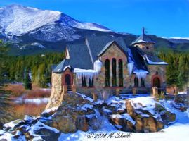 St Malo Chapel Winter 08May2014 Painting by MSchmidtProductions