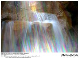 Rainbow Waterfall by Della-Stock