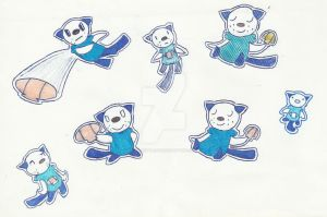 Oshawott Sketches by Sm-ArtThings