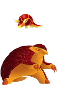 Fakemon: these used to be fire starters by That-One-Leo