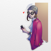 NY Cellphone Girl by Pancho2099
