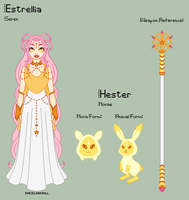 Stardust - Estrellia Reference Sheet + Hester by theRainbowOverlord