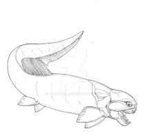 Dunkleosteus yunnanesis BW by avancna