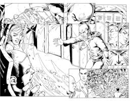 TEEN TITANS #90 8/9 - DBL PG. SPREAD Headcase $75 by DRHazlewood