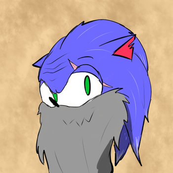 Old man sonic by Dark-Kisame