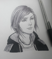 Inktober 23 | Chloe Price by lightningff134