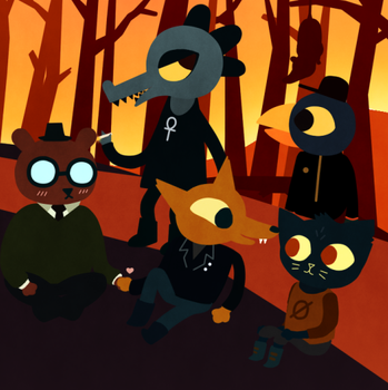 A Comforting Reunion - Night in The Woods by Charizardsparks