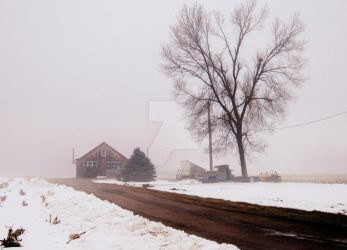 foggy winter day by ashleymphoto