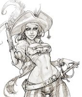 Pirate Lady Ink by MRGunn-Art