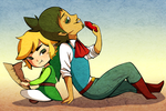 AT: Linebeck and Link by koala-bears