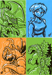 Sketchie Cards for G-Fest XXI 2/2 by AlmightyRayzilla