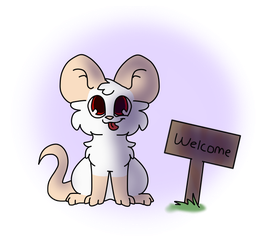Snowflake's Welcome Sign by MinoesTheKitty