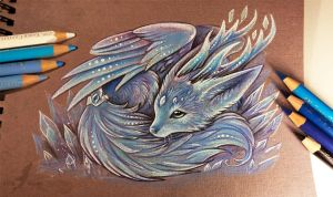 Crystal fox spirit by AlviaAlcedo