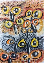 A stare of owls by Lew-Rosenberg