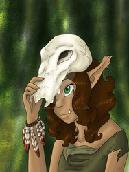 Jytra in forest by Adela555