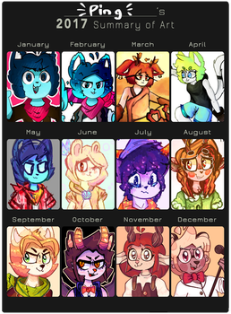 2017 Summary of Art by Ping-Ether