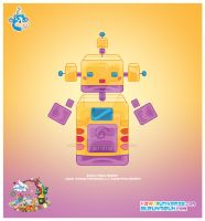 Kawaii Robot 00110100 by KawaiiUniverseStudio
