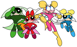 Diva Dynamite and SuperPowerpuff Girls! (updated) by SuperPanty276