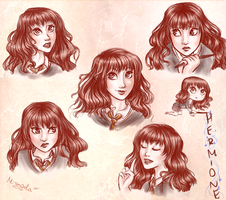 Hermione's expressions by m-angela