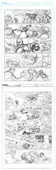 Invincible 92 page 5 process by RyanOttley