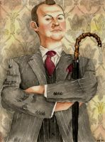 BBCs Mycroft Holmes  by Scarlett-Winter