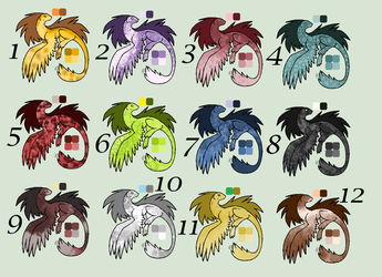 !!!CLOSED FREE!!! Dragonei Adoptables by KittyAdopts63