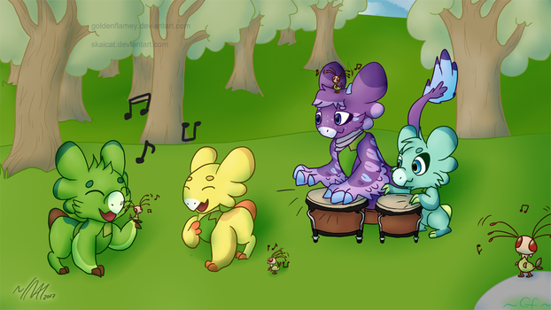 Chumming a tune by GoldenFlamey
